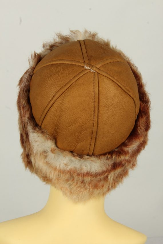 Vintage Womens Canadian Style Winter Hat 90s Brown HAT1596-145929