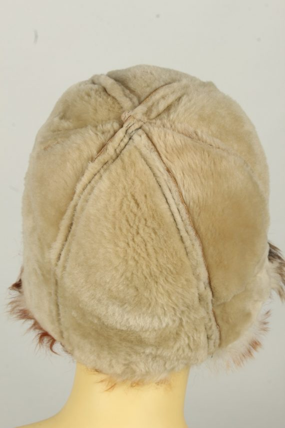 Vintage Womens Canadian Style Winter Hat 90s Brown HAT1596-145930