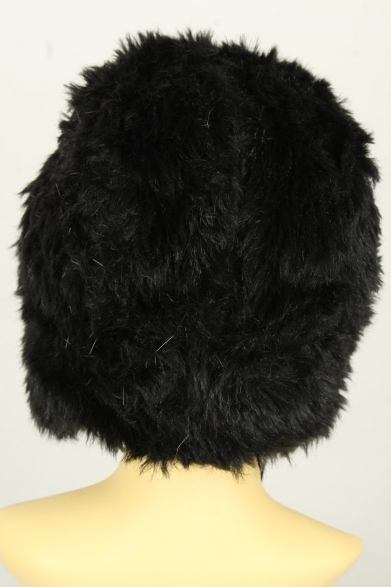Vintage Womens Canadian Style Winter Hat 90s Black HAT1600-145945