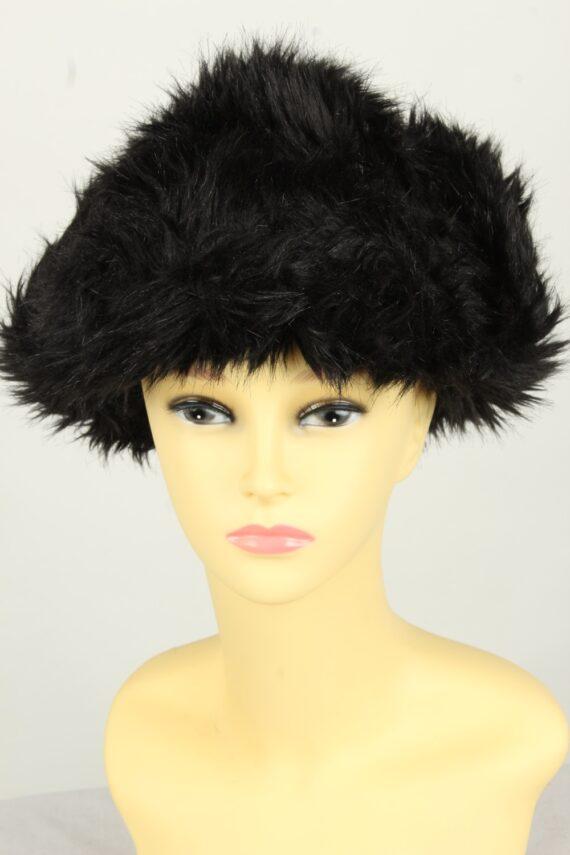 Vintage Womens European Style Winter Hat 90s Black HAT1606-0
