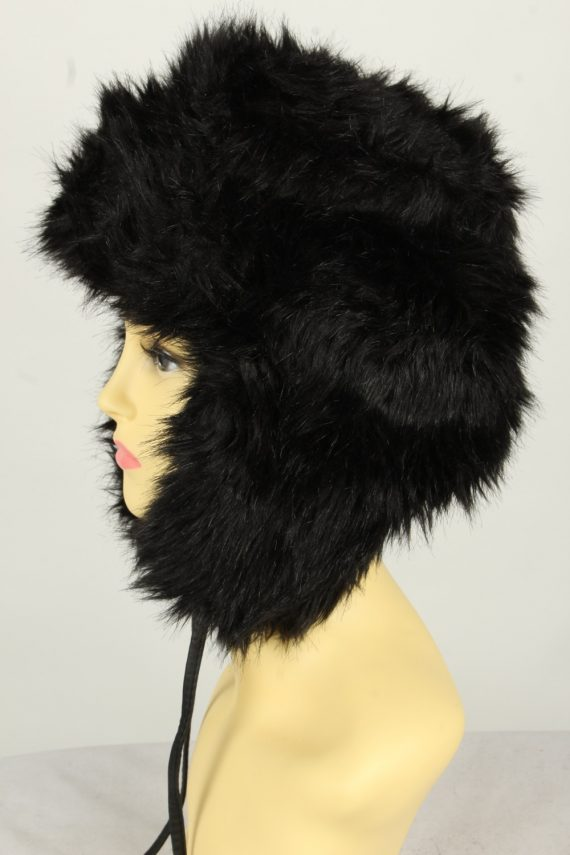 Vintage Womens European Style Winter Hat 90s Black HAT1606-145968