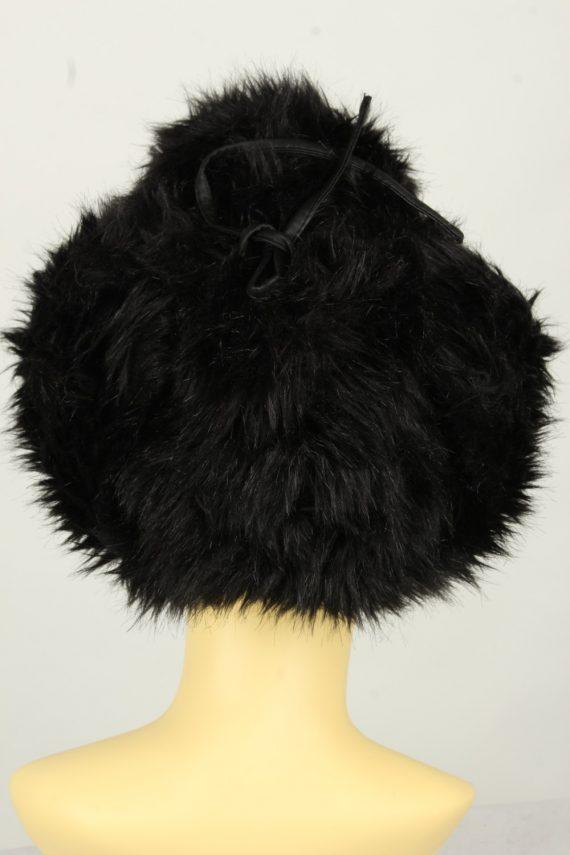Vintage Womens European Style Winter Hat 90s Black HAT1606-145969