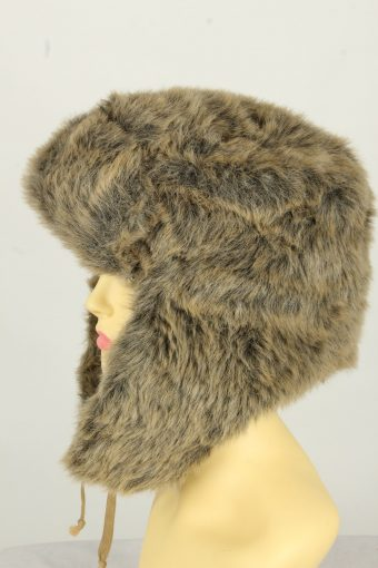 Vintage Womens European Style Winter Hat 90s Brown HAT1609-145980