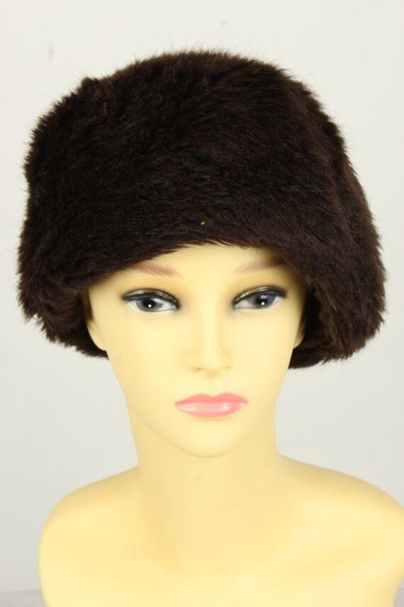Vintage Womens European Style Winter Hat 90s Brown HAT1611-0