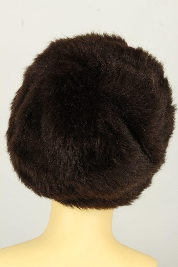 Vintage Womens European Style Winter Hat 90s Brown HAT1611-145989