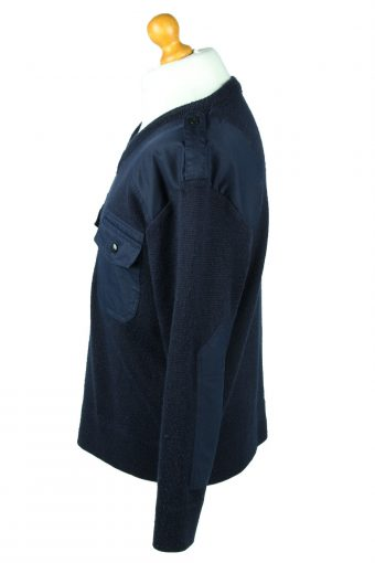 Vintage Army Military Combat Style Jumper M Navy -IL2066-144260