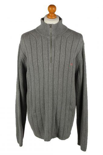 Ralph Lauren Polo Mens Zip Neck Jumper Grey XL