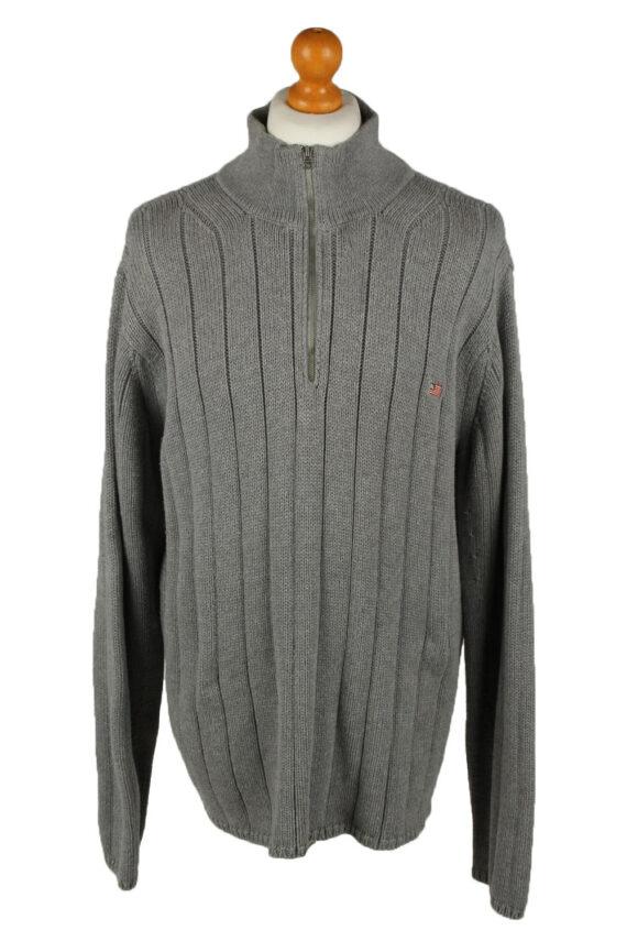Vintage Ralph Lauren Polo Mens Zip Neck Jumper XL Grey -IL2075-0