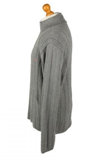 Vintage Ralph Lauren Polo Mens Zip Neck Jumper XL Grey -IL2075-144564