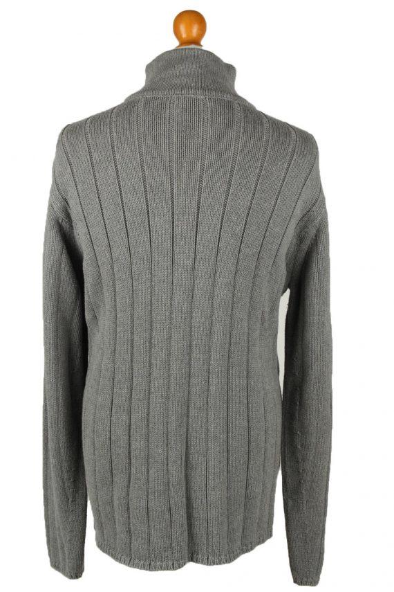 Vintage Ralph Lauren Polo Mens Zip Neck Jumper XL Grey -IL2075-144565