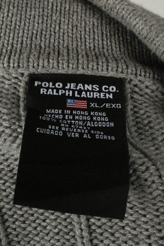 Vintage Ralph Lauren Polo Mens Zip Neck Jumper XL Grey -IL2075-144566