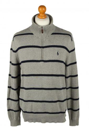 Ralph Lauren Polo Mens Zip Neck Jumper Grey L