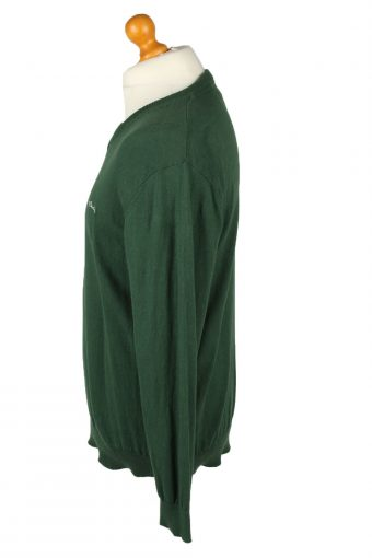 Vintage Pierre Cardin Mens V Neck Jumper L Green -IL2092-144632