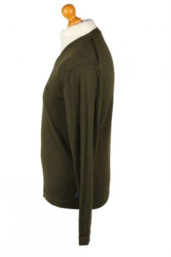 Vintage Woolrich Mens V Neck Jumper L Khaki -IL2093-144636