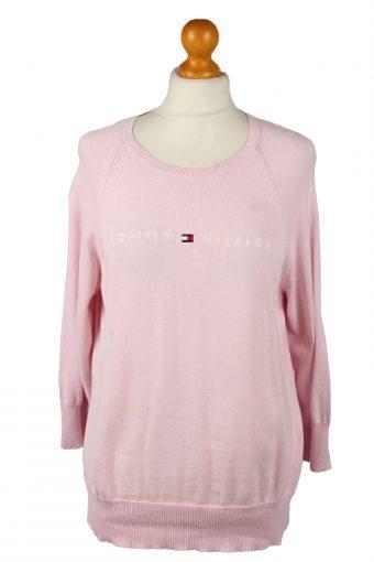 Tommy Hilfiger Womens Crew Neck Jumper 90s Pink M
