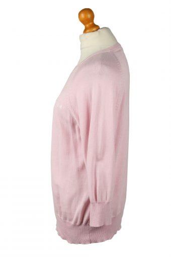 "Vintage Tommy Hilfiger Womens Crew Neck Jumper 90s Chest 40"" Pink -IL2101-145276"