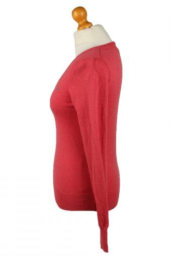 Vintage Gant Womens V Neck Jumper 90s XS Red -IL2104-145264