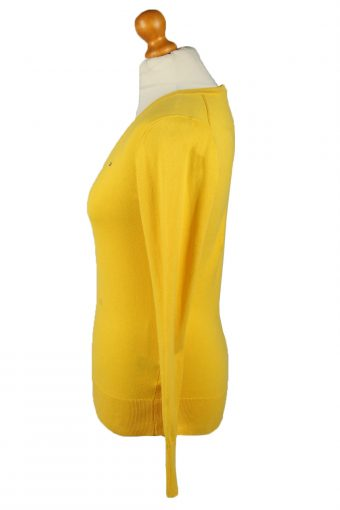 Vintage Tommy Hilfiger Womens V Neck Jumper 90s S Yellow -IL2114-145252