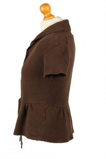 Vintage Tommy Hilfiger Womens Tie Wrap Cardigan 90s M Brown -IL2116-145260
