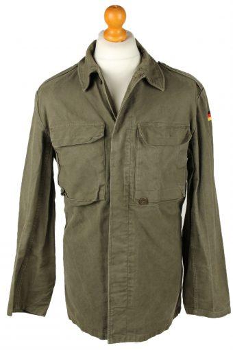 German Army Shirt Long Sleeve 90s Khaki M