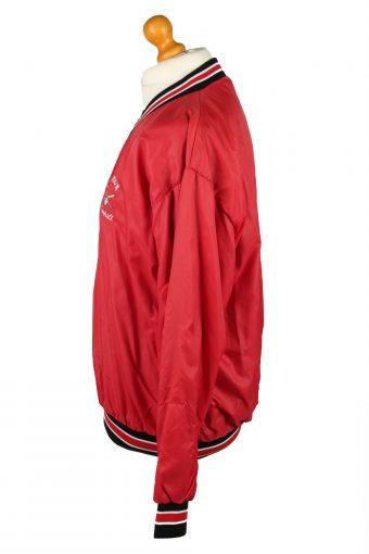 Vintage Russsel Athletic Union Baseball Jacket Windbreaker 90s XL Red -SW2642-143816