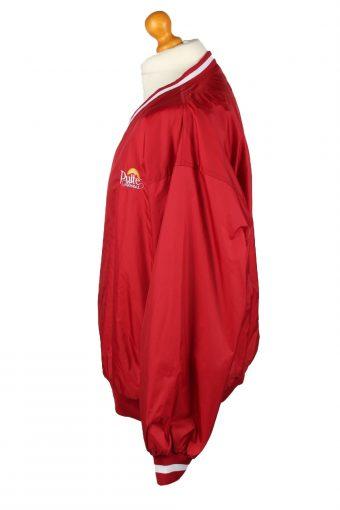 Vintage Baseball V Neck Jacket Windbreaker 90s XL Red -SW2644-143744