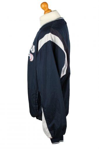 Vintage Alleson Athletic Baseball Jacket Windbreaker 90s XL Navy -SW2645-143748