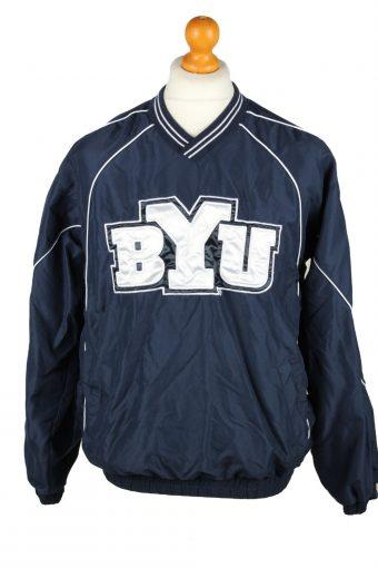 Baseball USA College V Neck Pullover Windbreaker 90s Navy M