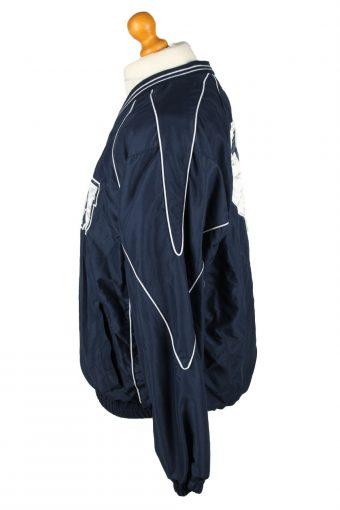 Vintage Baseball V Neck Jacket Windbreaker 90s M Navy -SW2646-143752