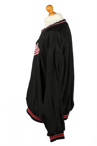 Vintage Holloway Baseball V Neck Jacket Windbreaker 90s XXL Black -SW2651-143772