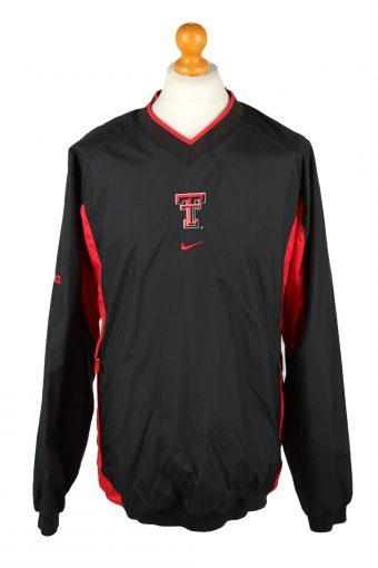 Nike Baseball V Neck Jacket Windbreaker Black XL