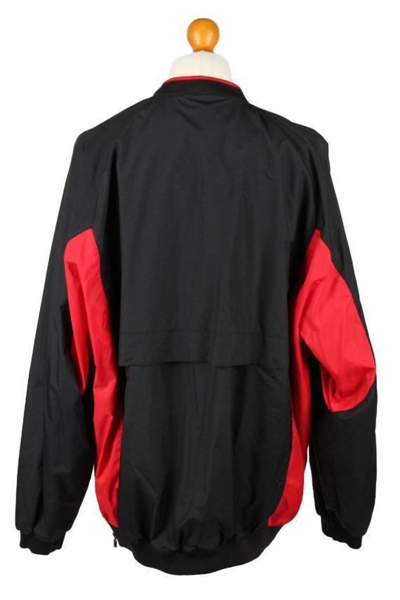 Vintage Nike Baseball V Neck Jacket Windbreaker 90s XL Black -SW2652-143777