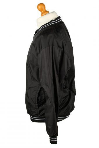 Vintage Baseball V Neck Jacket Windbreaker 90s M Black -SW2654-143784