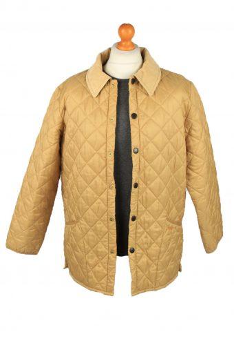 Vintage Barbour Mens Quilted Jacket Coat L Gold -C2120-147620
