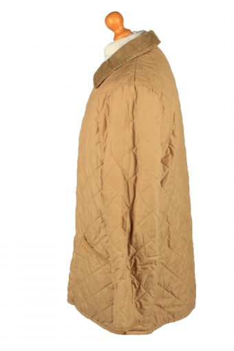 Vintage Barbour Mens Quilted Jacket Coat L Gold -C2121-147625