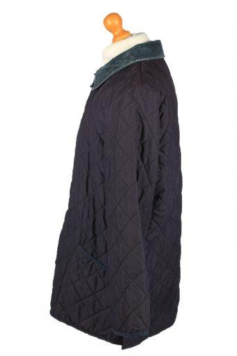 Vintage Barbour Mens Quilted Jacket Coat XL Navy -C2122-147629