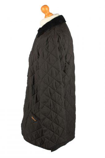 Vintage Barbour Mens Quilted Jacket Coat S Black -C2124-147639
