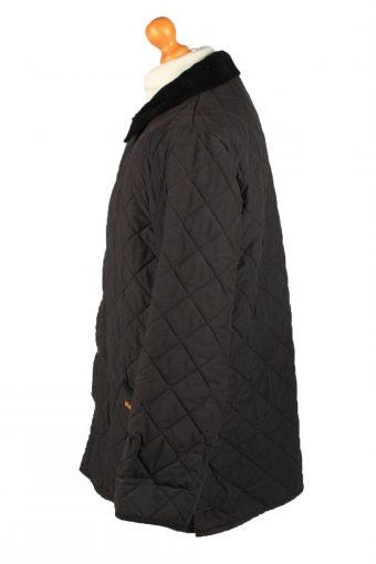 Vintage Barbour Mens Quilted Jacket Coat L Black -C2125-147644