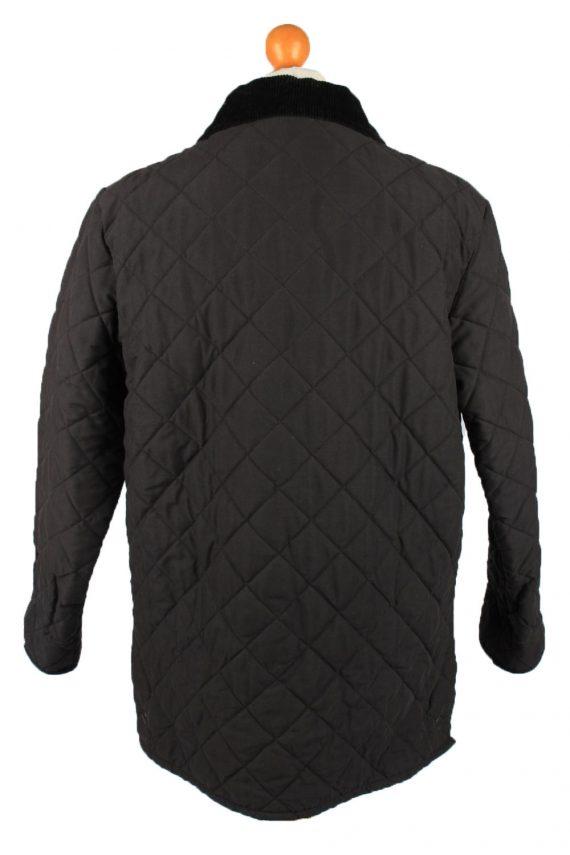 Vintage Barbour Mens Quilted Jacket Coat L Black -C2125-147645