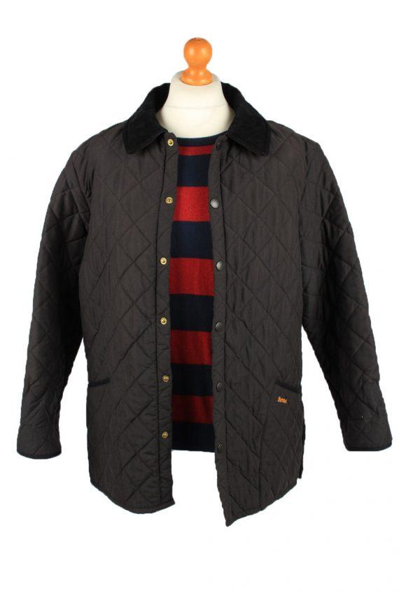 Vintage Barbour Mens Quilted Jacket Coat L Black -C2125-147646