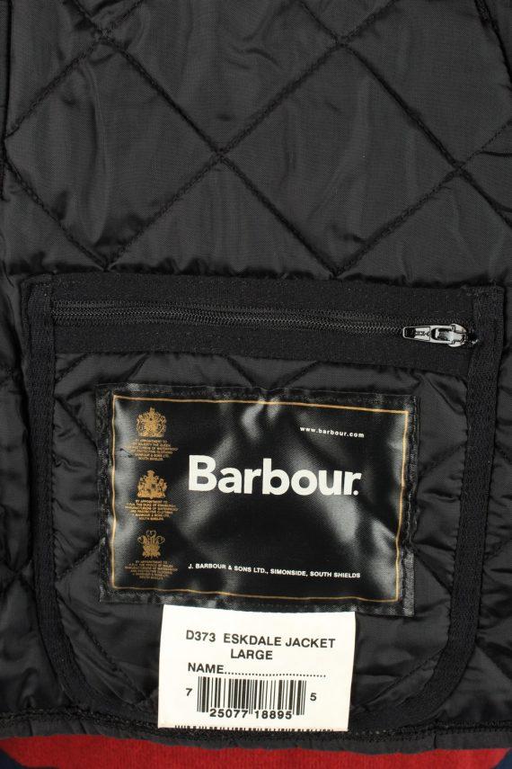 Vintage Barbour Mens Quilted Jacket Coat L Black -C2125-147647