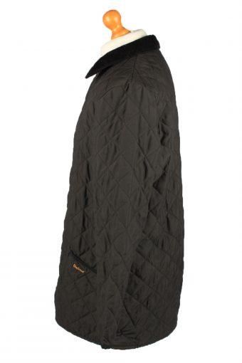 Vintage Barbour Mens Quilted Jacket Coat M Black -C2126-147649