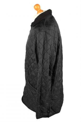 Vintage Barbour Mens Quilted Jacket Coat L Black -C2128-147659
