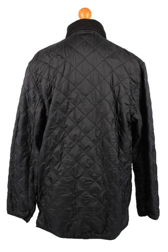 Vintage Barbour Mens Quilted Jacket Coat L Black -C2128-147660