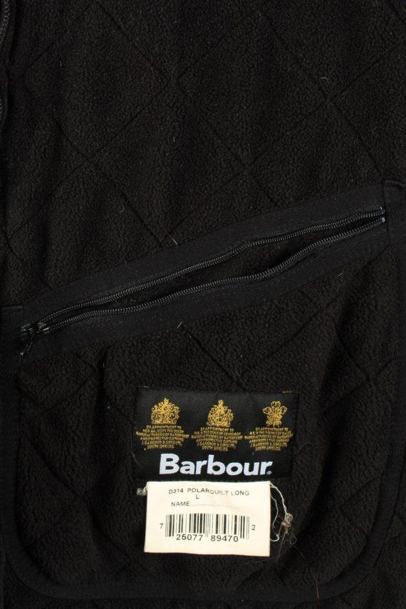 Vintage Barbour Mens Quilted Jacket Coat L Black -C2128-147662