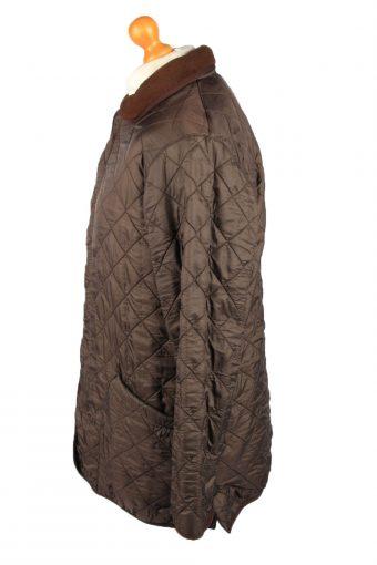 Vintage Barbour Mens Quilted Jacket Coat M Brown -C2130-147669