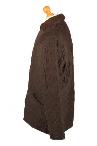 Vintage Barbour Mens Quilted Jacket Coat L Brown -C2131-147674