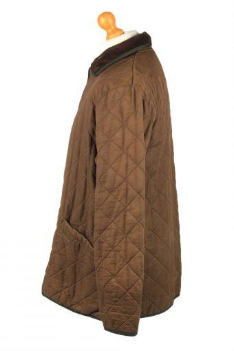 Vintage Barbour Mens Quilted Jacket Coat L Brown -C2132-147679