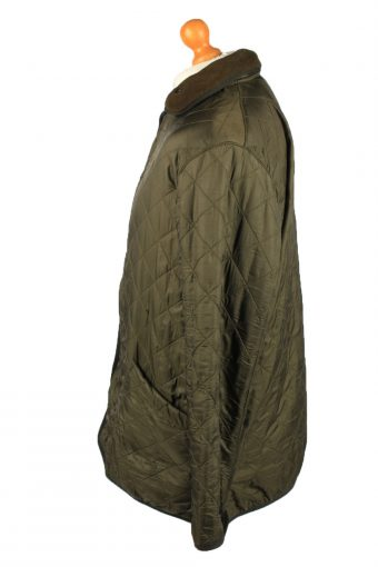 Vintage Barbour Mens Quilted Jacket Coat L Green -C2134-147689