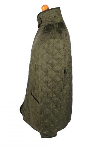 Vintage Barbour Mens Quilted Jacket Coat L Green -C2136-147699